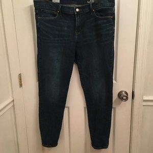 Gap 1969 Dark Wash Legging Jeans Size 34 r